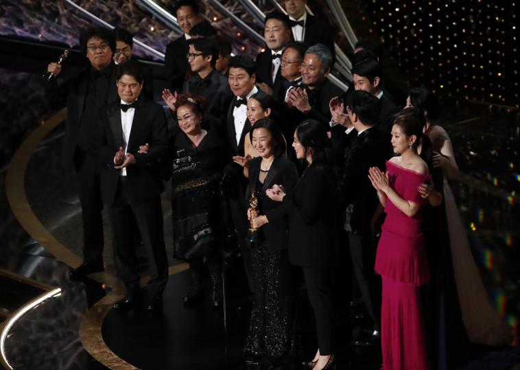 """""""פרזיטים"""" זוכה בפרס האוסקר 2020. צילום: REUTERS/Mario Anzuoni"""