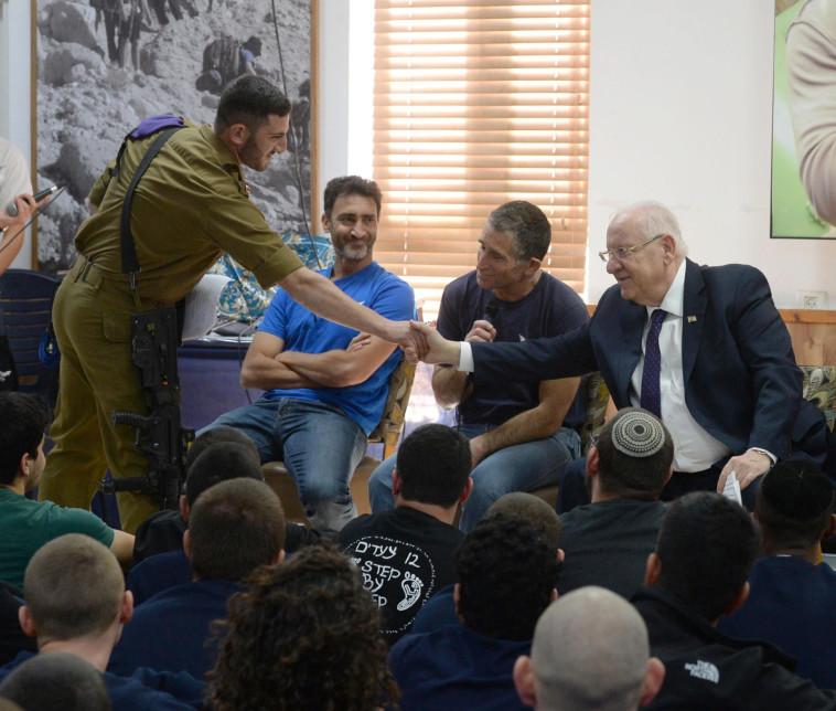 הנשיא ריבלין בכפר הנוער נירים (צילום: מארק ניימן, לע''מ)