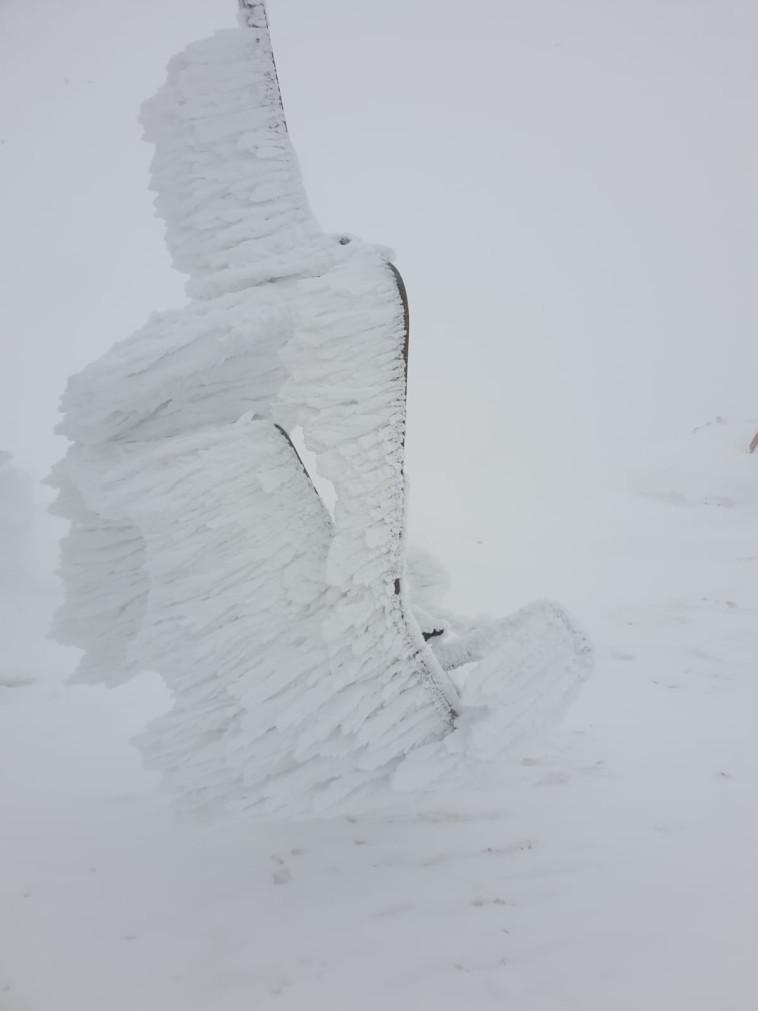 רכבל קפוא באתר החרמון. צילום: אתר החרמון