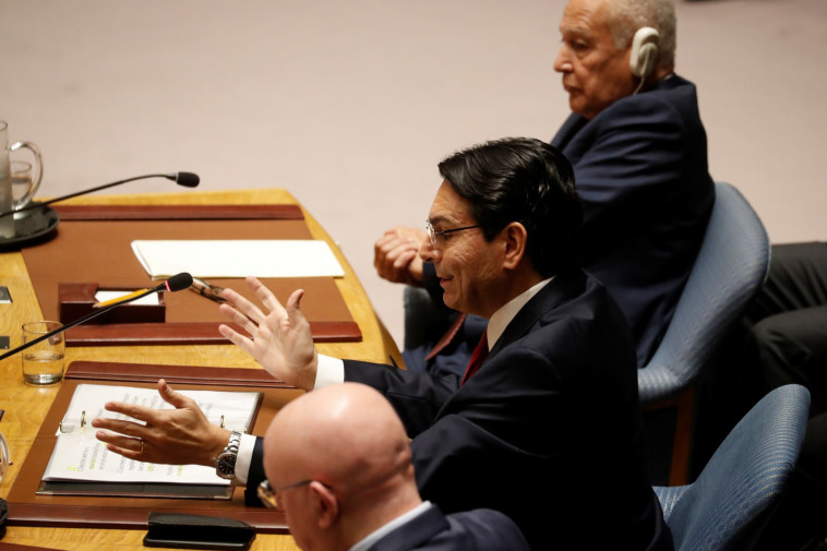 דני דנון במועצת הביטחון (צילום: REUTERS/Shannon Stapleton)