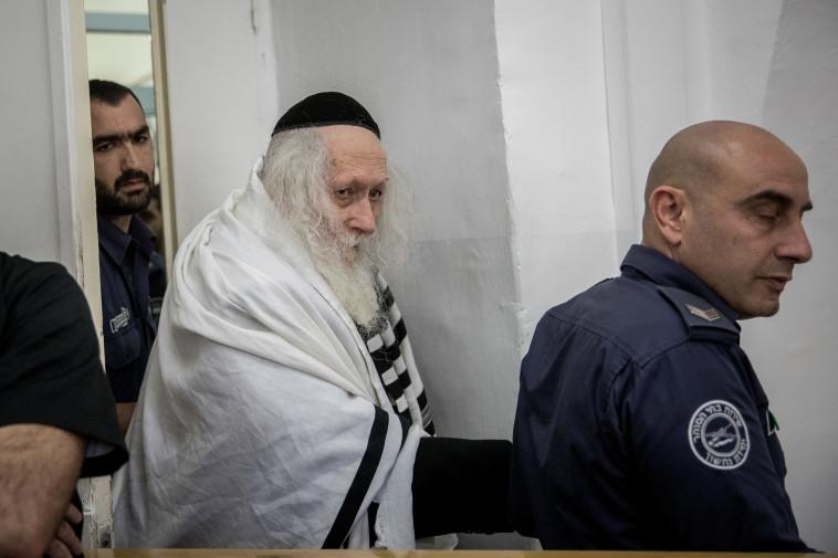 הרב ברלנד בבית המשפט (צילום: יונתן זינדל, פלאש 90)