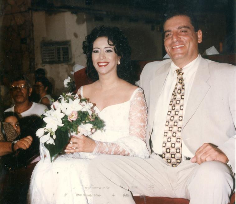 שנת 1997 עופרה חזה ודורון אשכנזי בחתונה (צילום: נאור רהב)