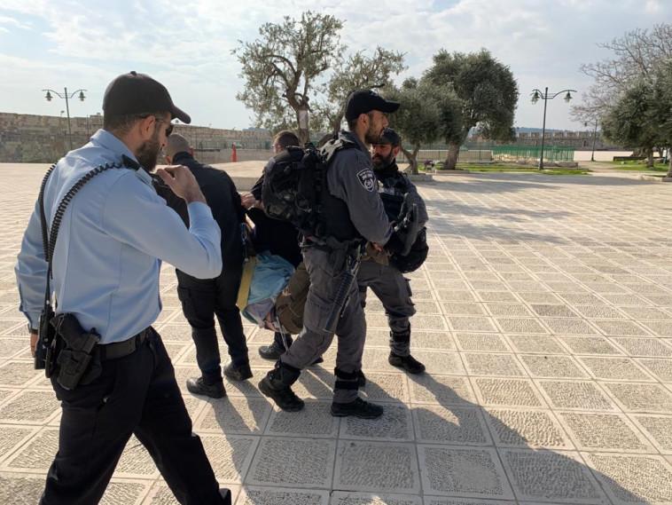 המעצר של יהודה גליק (צילום: צילום פרטי)