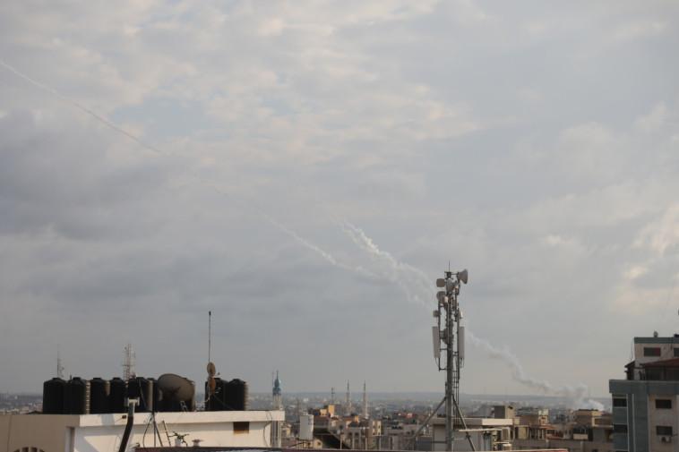 שיגור רקטות מרצועת עזה. צילום: מג'די פתחי/TPS
