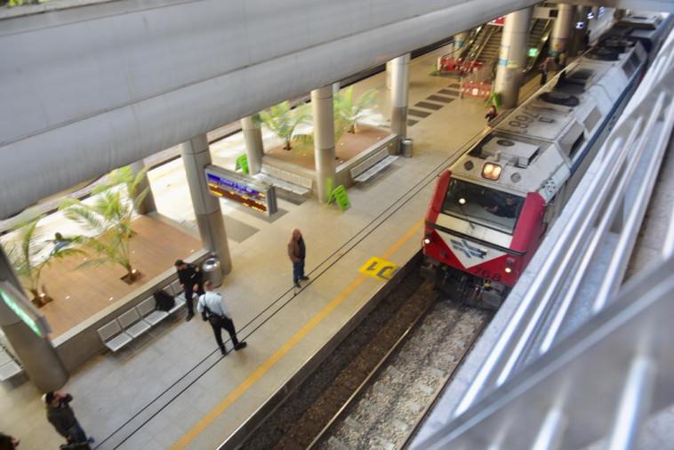 הרכבת בנתב''ג בעקבות משבר הקורונה (צילום: אבשלום ששוני)