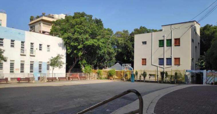 בית ספר שומם בצל משבר הקורונה (צילום: אבשלום ששוני)