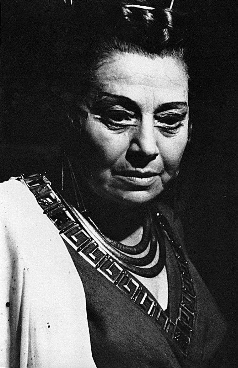 רחל מרכוס אשתו של נתן אלתרמן (צילום: מירום פטר אלבום התאטרון)