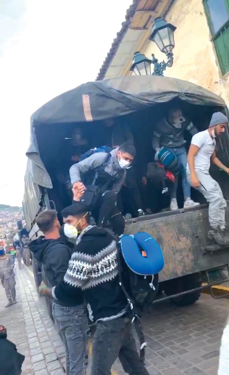 קורונה: המטיילים הישראלים בפרו בדרכם  (צילום: ארד בק)