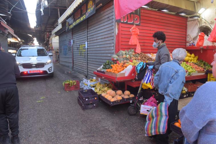 שוק הכרמל בחודש מרץ (צילום: אבשלום ששוני)