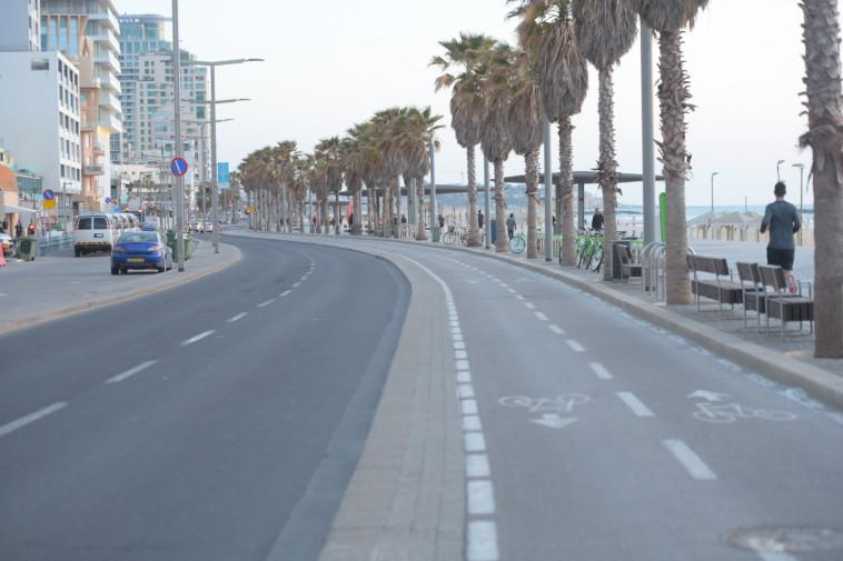 תל אביב בעוצר בשל הקורונה (צילום: אבשלום ששוני)