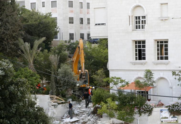 בנייה לא חוקית במזרח ירושלים (צילום: קובי גדעון, פלאש 90)