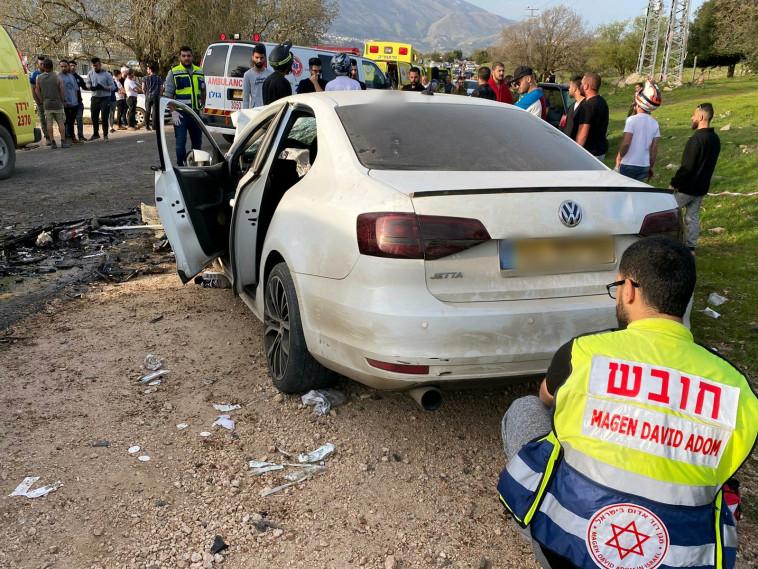 תאונת דרכים קטלנית בכביש 978 (צילום: דוברות מד''א)