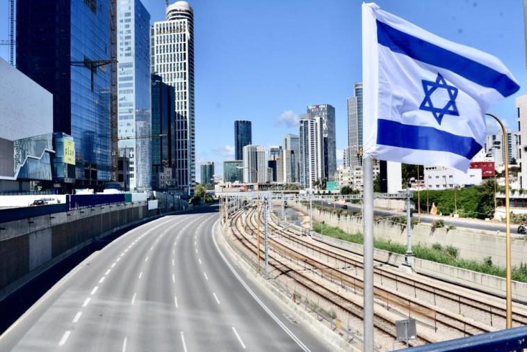 סגר ערב פסח בתל אביב (צילום: אבשלום ששוני)