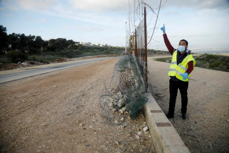 קורונה ברשות (צילום: REUTERS/Raneen Sawafta)