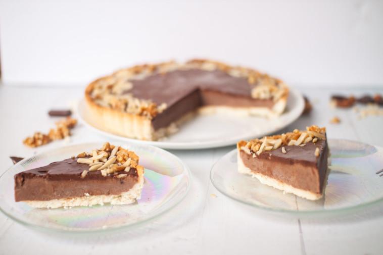 טארט שוקולד כשר לפסח (צילום: ליליה ויינרוט)