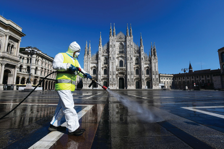קורונה באיטליה (צילום: Piero Cruciatti, Getty Images)