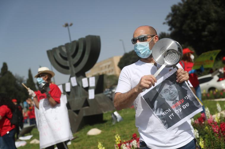 מחאת העצמאים (צילום: יונתן זינדל, פלאש 90)
