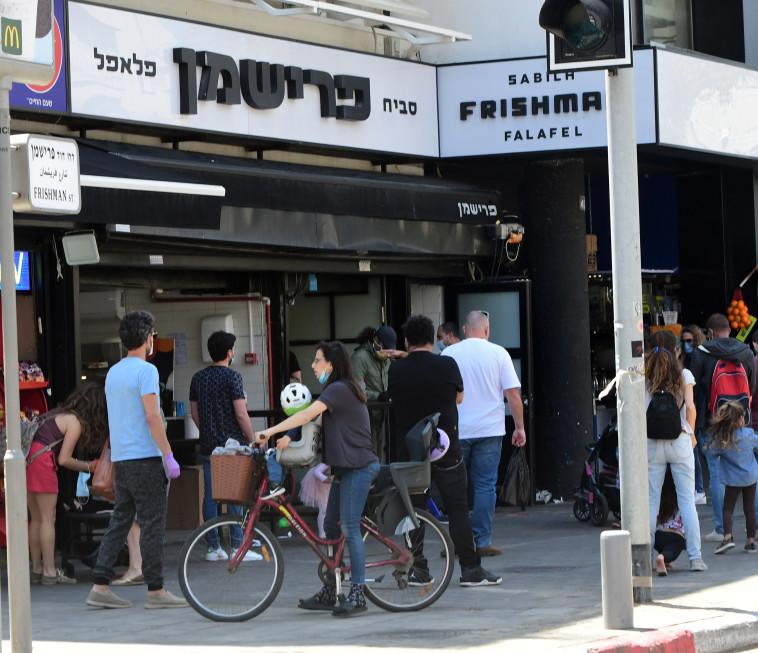 קורונה בישראל- פתיחת חנויות בתל אביב (צילום: אבשלום ששוני)