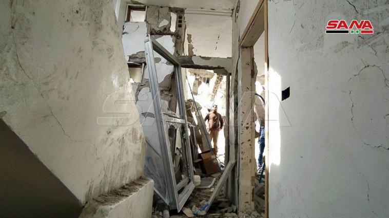 תקיפה בסוריה (צילום: רשתות ערביות)