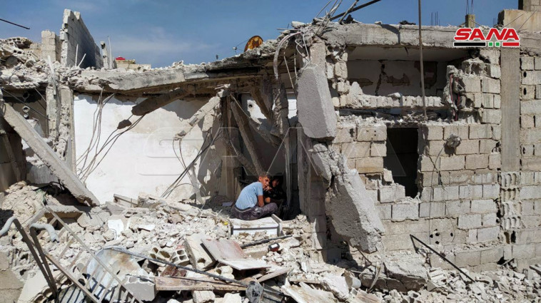 תקיפה בסוריה שיוחסה לישראל, ארכיון (צילום: רשתות ערביות)