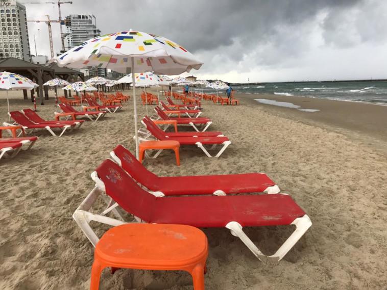 חוף פרישמן בתל אביב נערך לחזרה לשגרה (צילום: אבשלום ששוני)