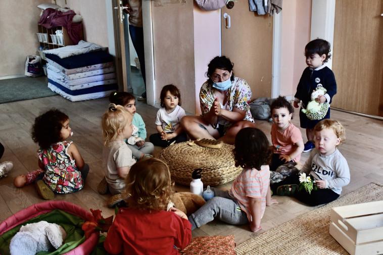 חזרה לגני הילדים בצל הקורונה (צילום: אבשלום ששוני)