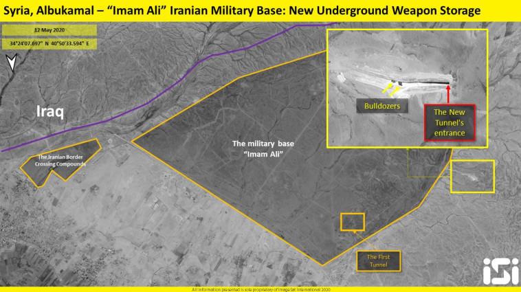 מחסני הנשק של איראן בסוריה (צילום: וח מודיעין של חברת אימג'סאט אינטרנשיונל (ImageSat International - ISI), חברת הלוויינים ופתרונות המוד)