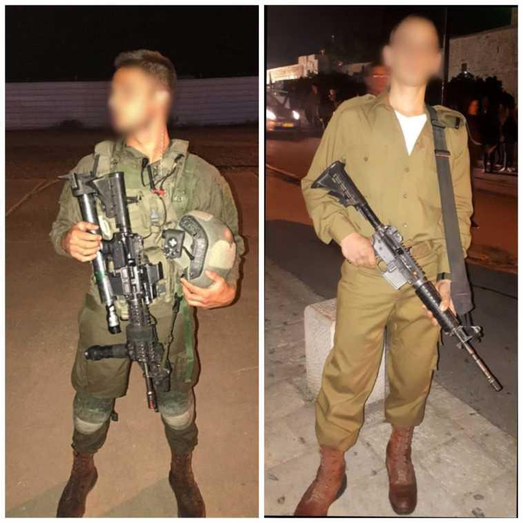משמאל סמל א ומימין טוראי ש (צילום: דובר צה''ל)