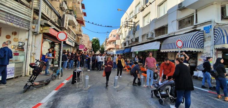 מדרחוב לוינסקי  (צילום: דוברות עיריית תל אביב יפו)