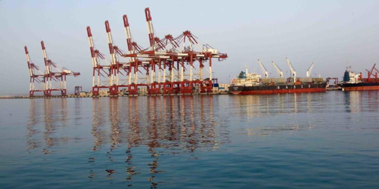 נמל שאהיד רג'עאי באיראן (צילום: רשתות ערביות)