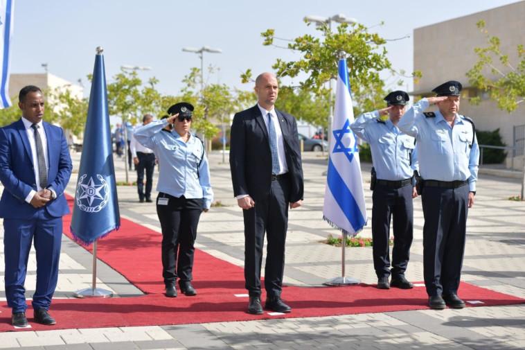 אמיר אוחנה בטקס קבלת פנים לשר לביטחון הפנים (צילום: דוברות המשטרה)