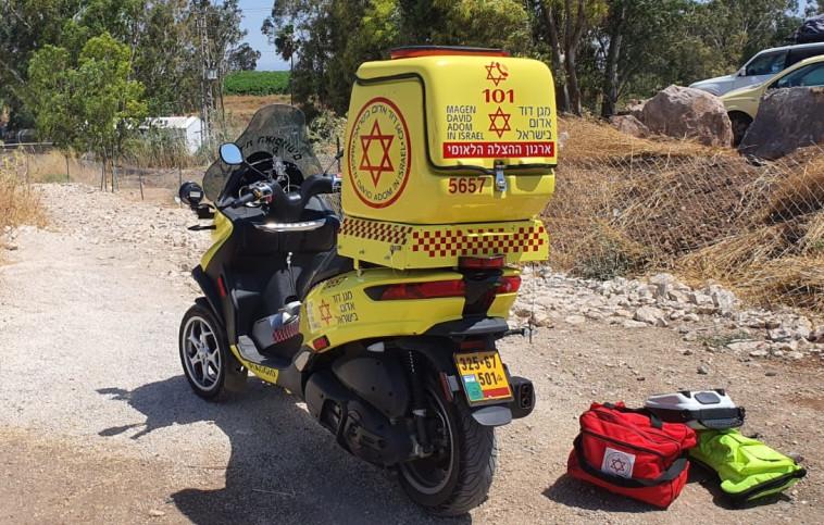אמבולנס, ארכיון (לרכב המצולם אין קשר לאירוע המתואר בכתבה) (צילום: תיעוד מבצעי מד''א)
