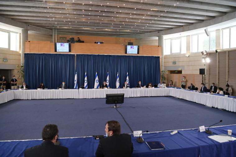 הדיון בקבינט הקורונה (צילום: עמוס בן גרשום, לע''מ)