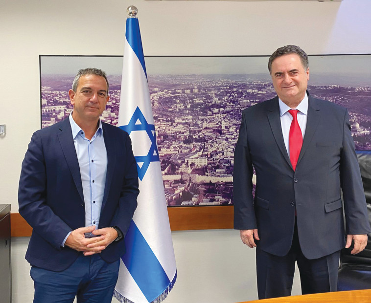 ישראל כ''ץ, רון תומר (צילום: משרד האוצר)