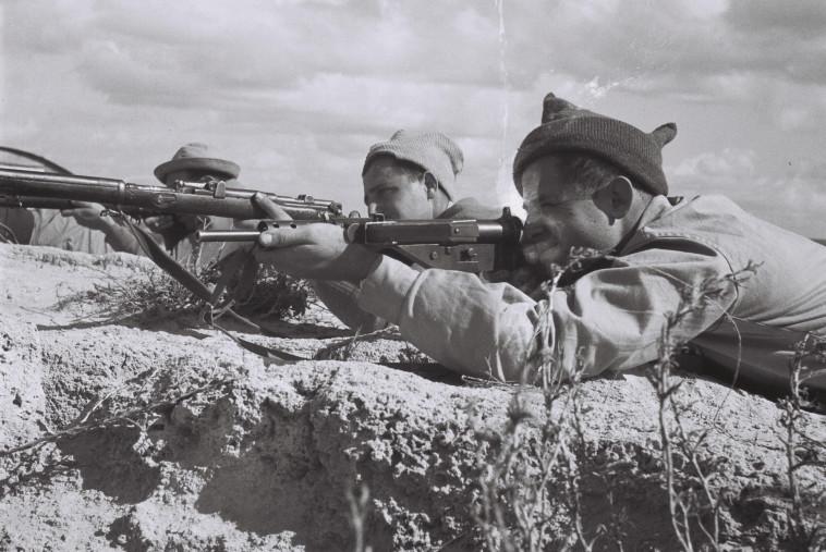 אימון של ארגון ההגנה (צילום: קלוגר זולטן, לע''מ)