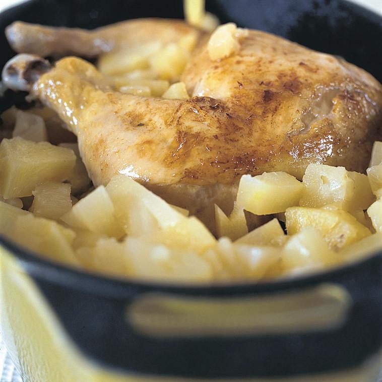 עוף בפלפל ואננס (צילום: מיכל לנרט, מתוך הספר ''המטבח של פסקל'')