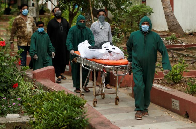 קורונה בהודו (צילום: REUTERS/Francis Mascarenhas)