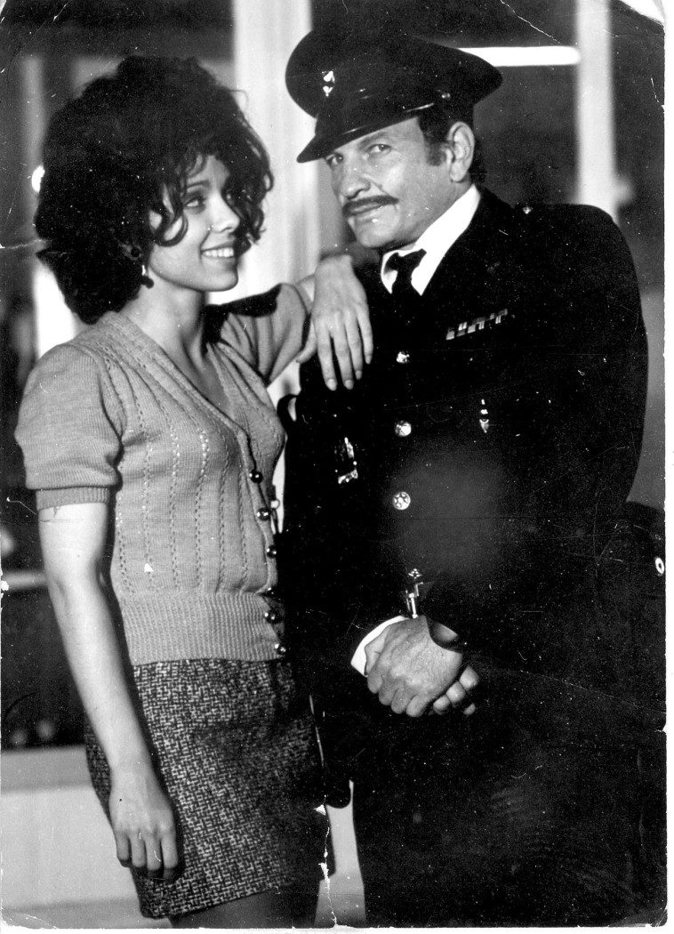 ניצה שאול עם שייקה אופיר בסרט ''השוטר אזולאי'' (צילום: יח''צ)