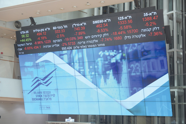 Corona Days: The Tel Aviv Stock Exchange (Photo: Avshalom Shashoni)