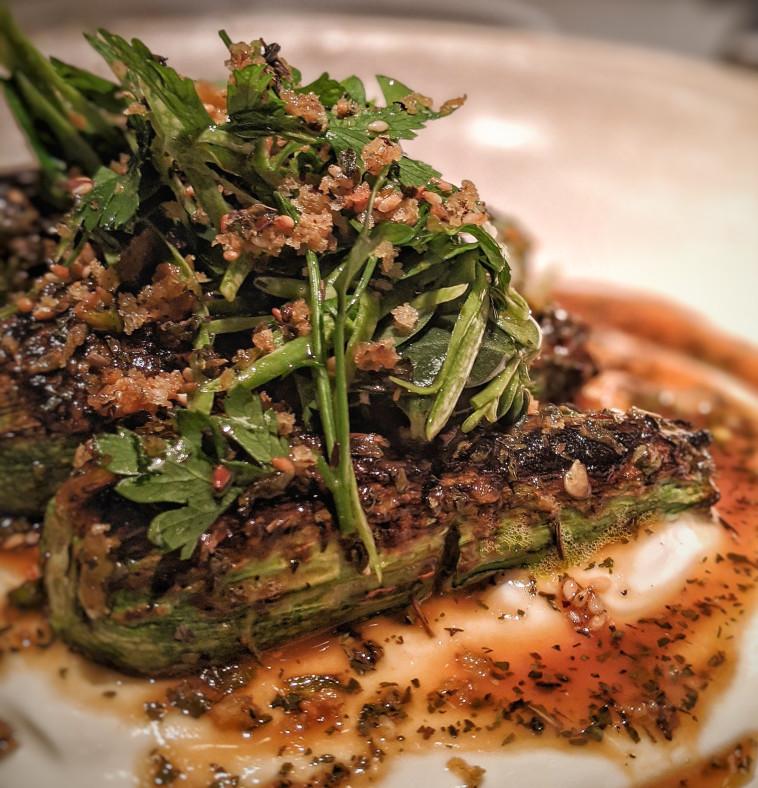 בייבי זוקיני על לבאנה מסעדת אריא (צילום: אסנת גואטה)