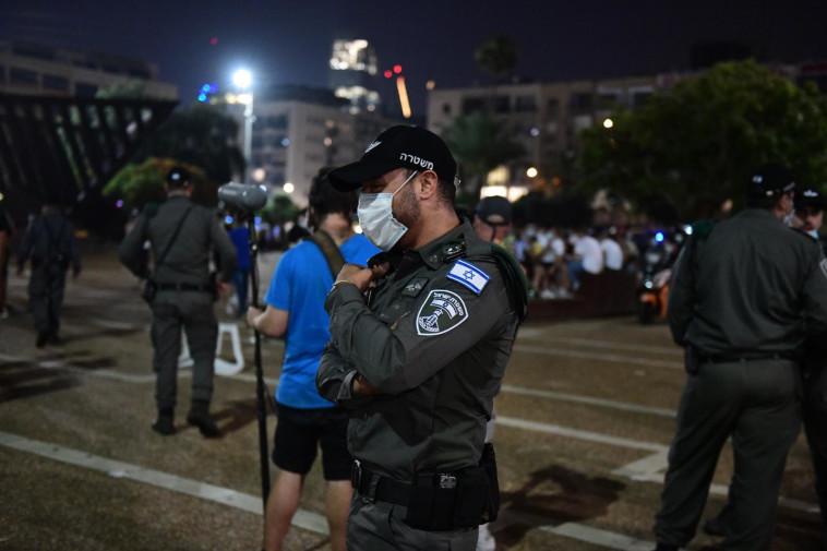 מהומות בחגיגות האליפות של מכבי ת״א בכיכר רבין (צילום: דוברות המשטרה)