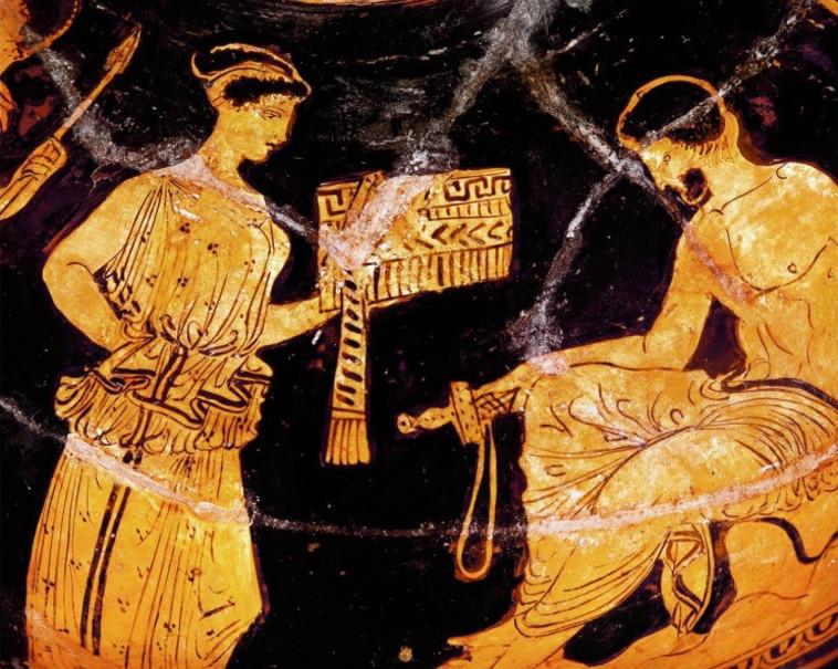 אודיסאוס וקליפסו, 450 לפנה''ס (צילום: ארכיון)