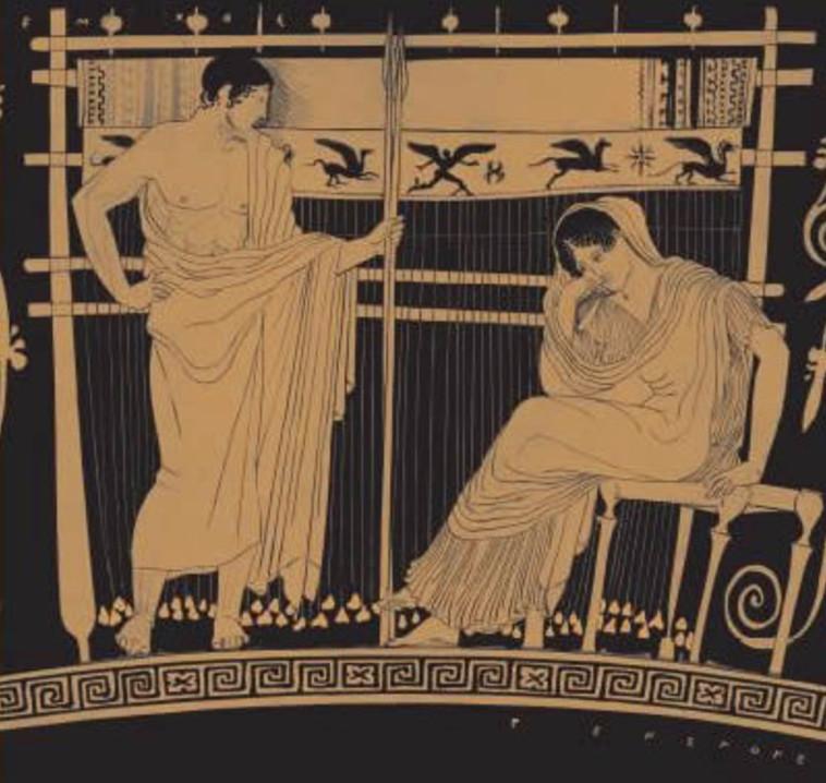 פנלופה וטלמכוס, 430 לפנה''ס (צילום: ארכיון)
