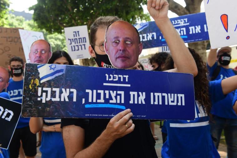 הפגנת העצמאים בשדרות רוטשילד בתל אביב (צילום: אבשלום ששוני)