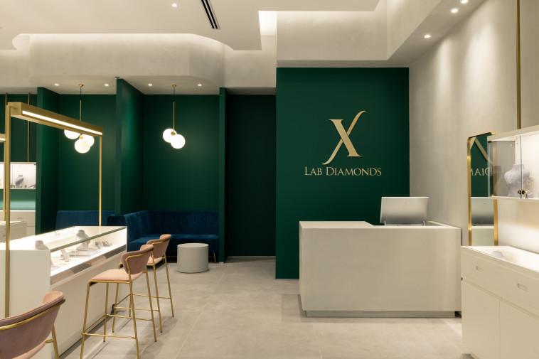 חנות Lab Diamonds (צילום: גדעון לוין)