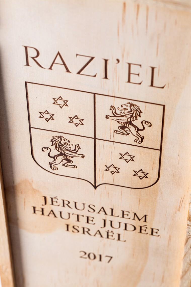 יקב רזיאל, לוגו  (צילום: אלעד ברמי)