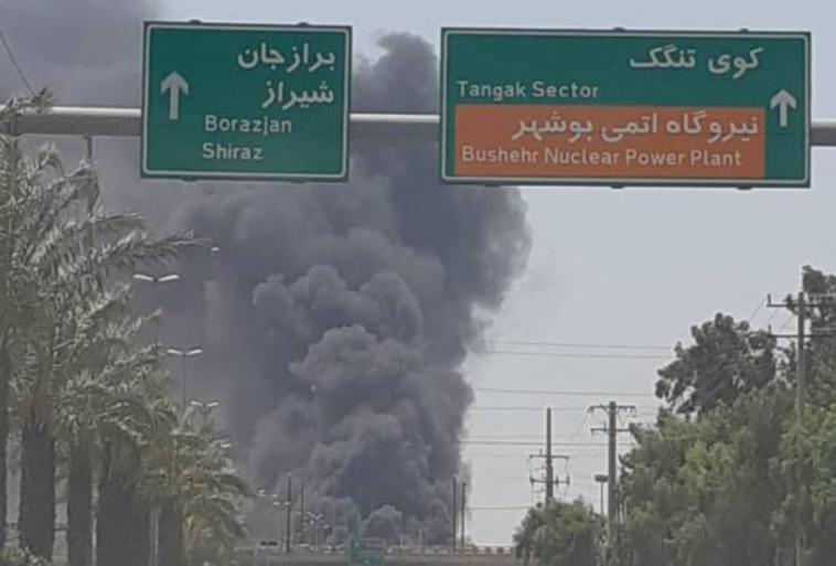 שריפת הספינות באיראן (צילום: רשתות ערביות)