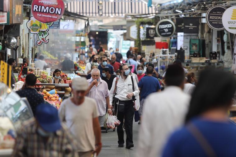 קורונה בישראל: שוק מחנה יהודה (צילום: מרק ישראל סלם)