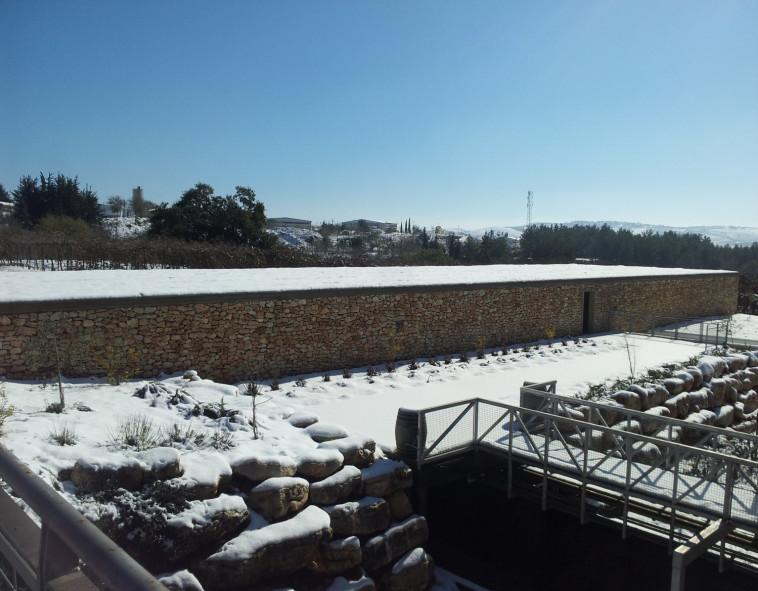 יקב הרי גליל בשלג  (צילום: יח''צ)