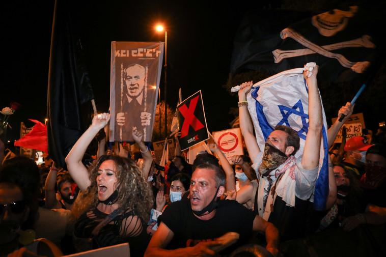 ההפגנה בירושלים (צילום: אוליבייה פיטוסי, פלאש 90)